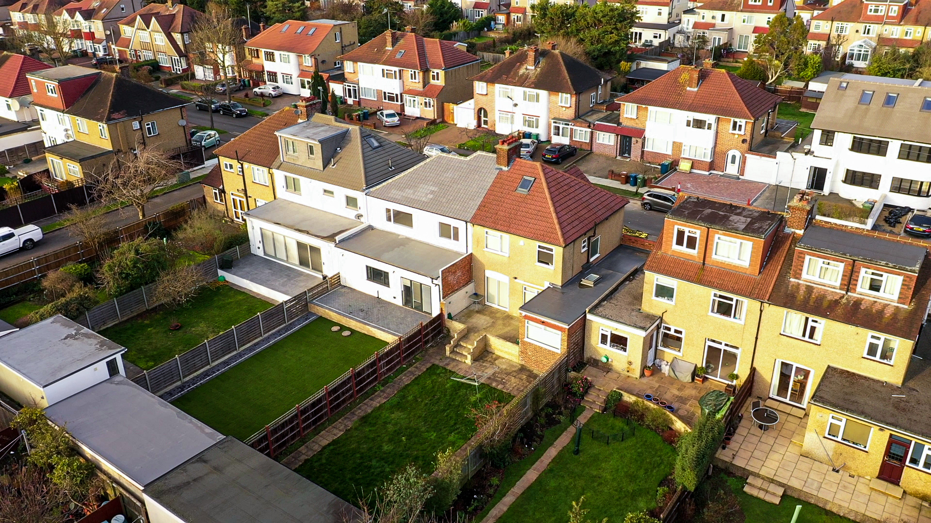drone surveying in residential London